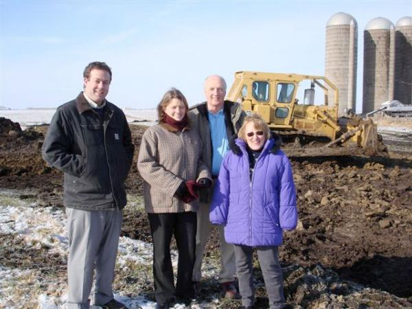 Standing on the future 179th Street from left to right: Roland Wells, Martha Norbeck, Dan Walker and Phillippa Mecham