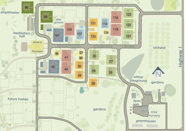 View of our site plan showing lots available