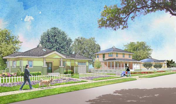 Artist rendering of the future Cypress Villages.